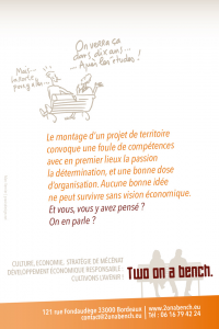 Two on a bench : la vision globale